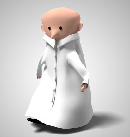 cientist walking