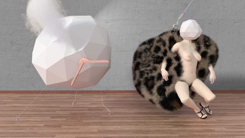 pelota, polígono, y mujer 3